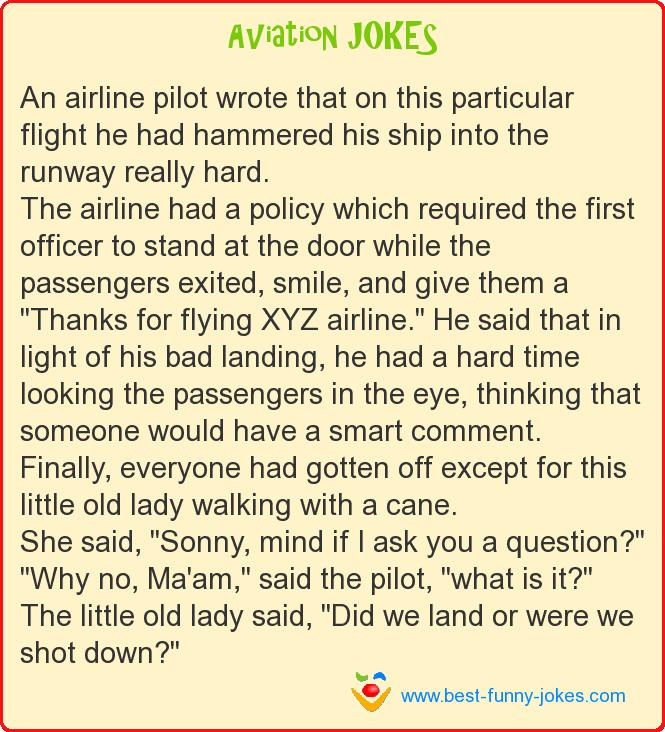 An airline pilot wrote that