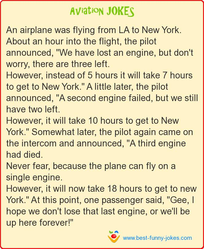 An airplane was flying from LA