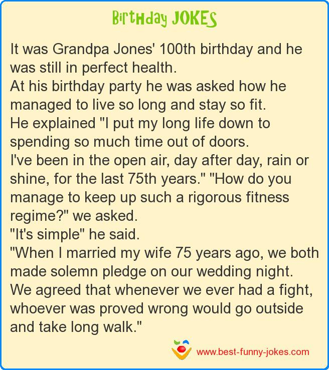 It was Grandpa Jones' 100th