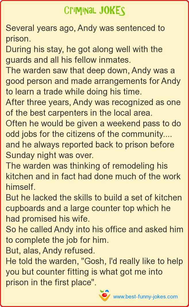 Several years ago, Andy was se