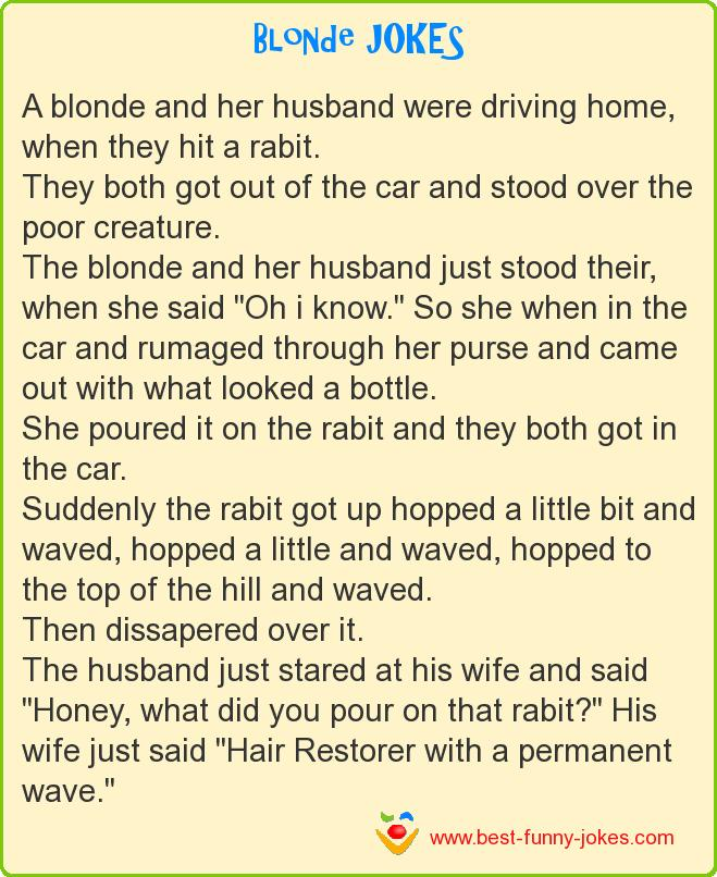 A blonde and her husband were