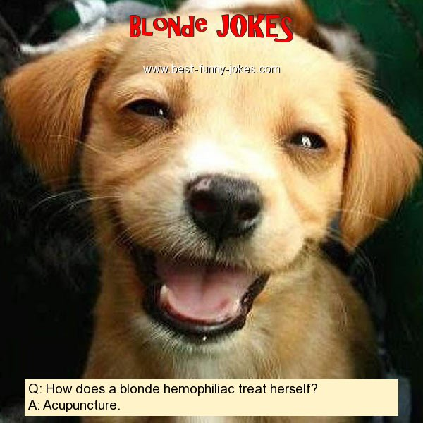 Q: How does a blonde hemophili