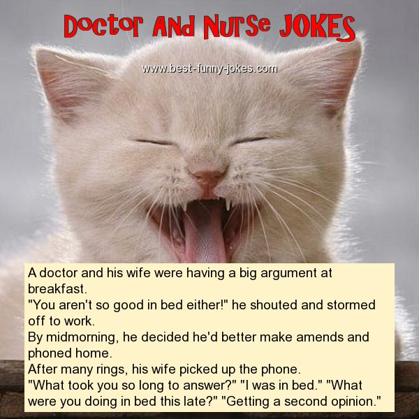 A doctor and his wife were hav