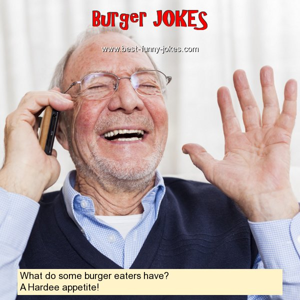 What do some burger eaters hav
