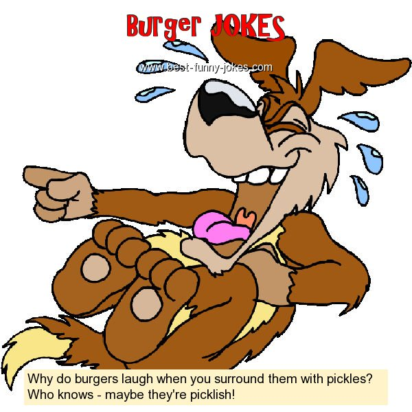 Why do burgers laugh when yo