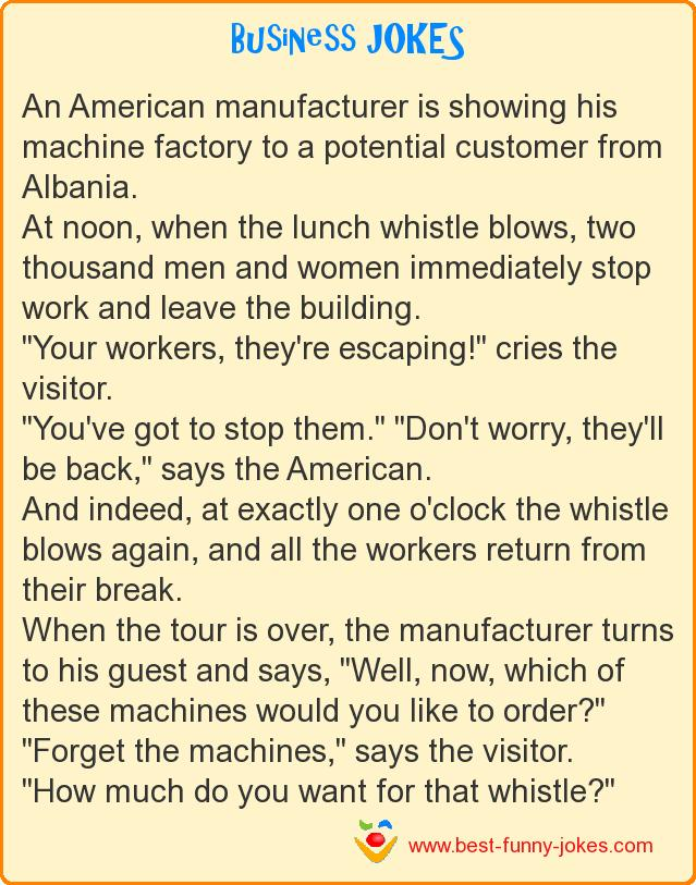 An American manufacturer is sh