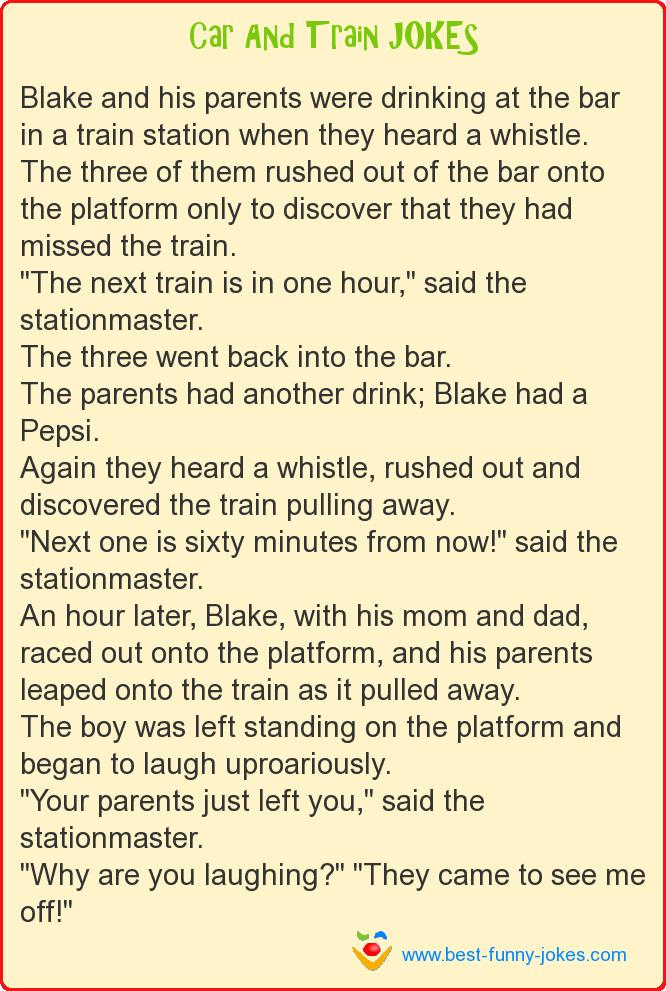 Blake and his parents were d