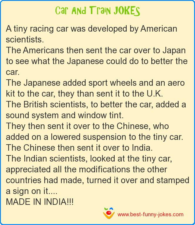 A tiny racing car was develo