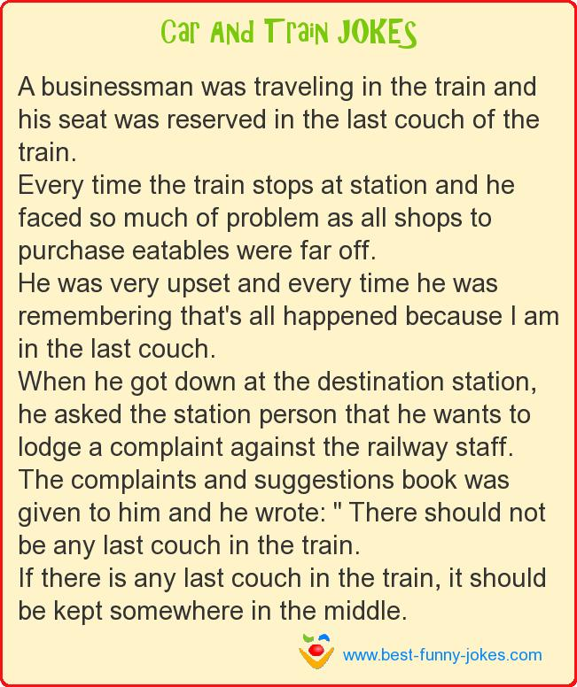 A businessman was traveling in