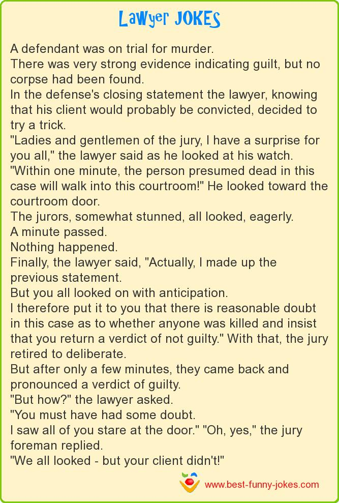 A defendant was on trial for