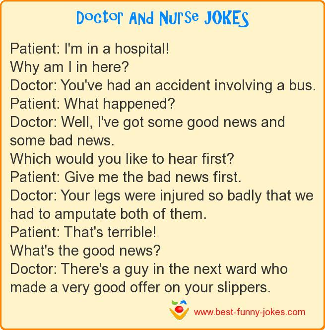 Patient: I'm in a hospital! Wh