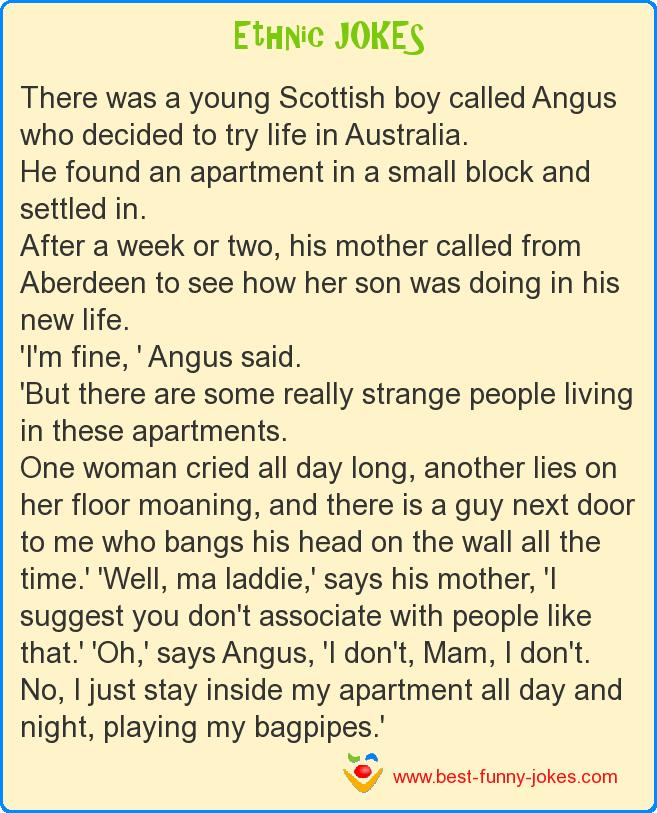 There was a young Scottish boy