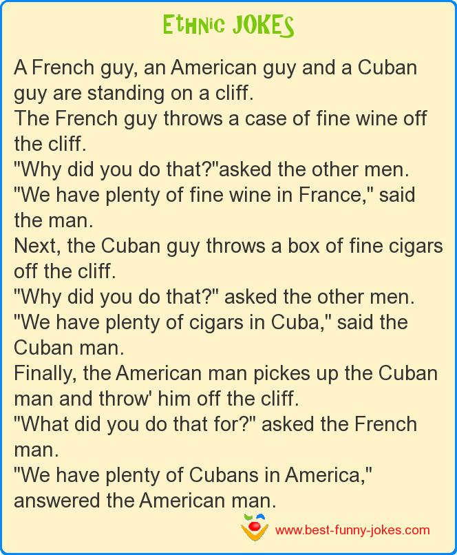 A French guy, an American guy
