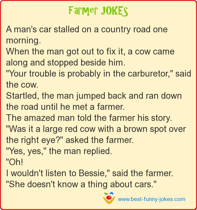 A man's car stalled on a count