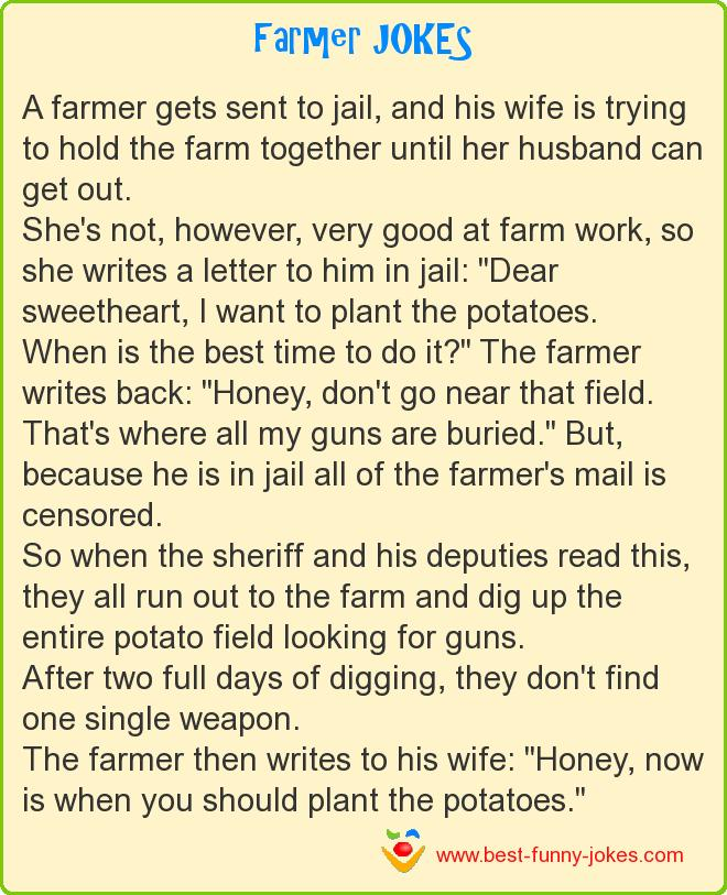 A farmer gets sent to jail,