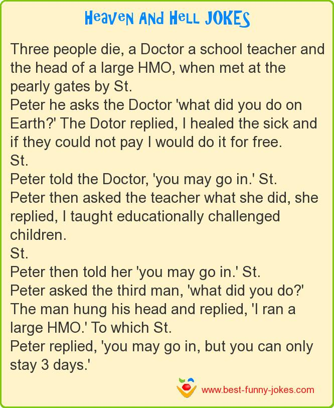 Three people die, a Doctor a s