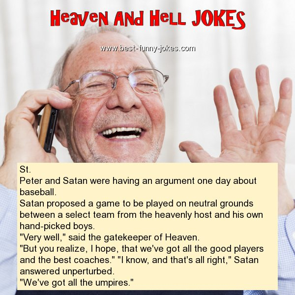 St. Peter and Satan were havin