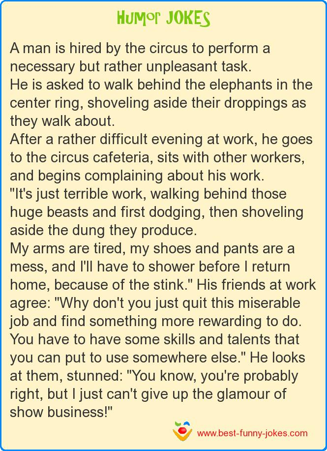 A man is hired by the circus t