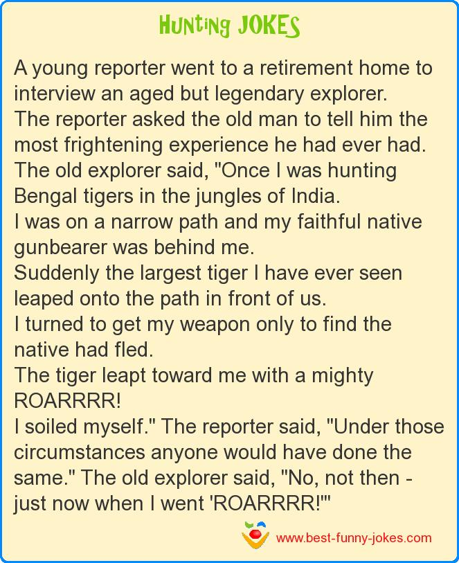 A young reporter went to a ret