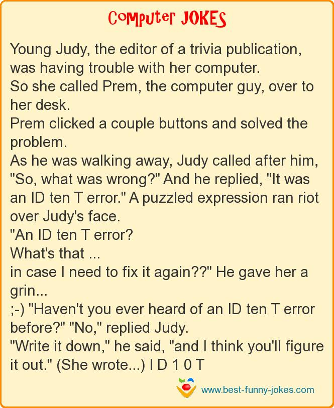 Young Judy, the editor of a tr