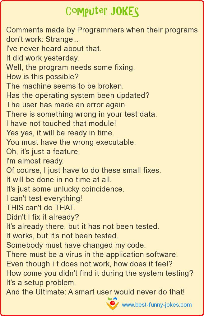 Comments made by Programmers