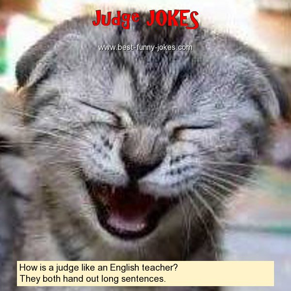 How is a judge like an English