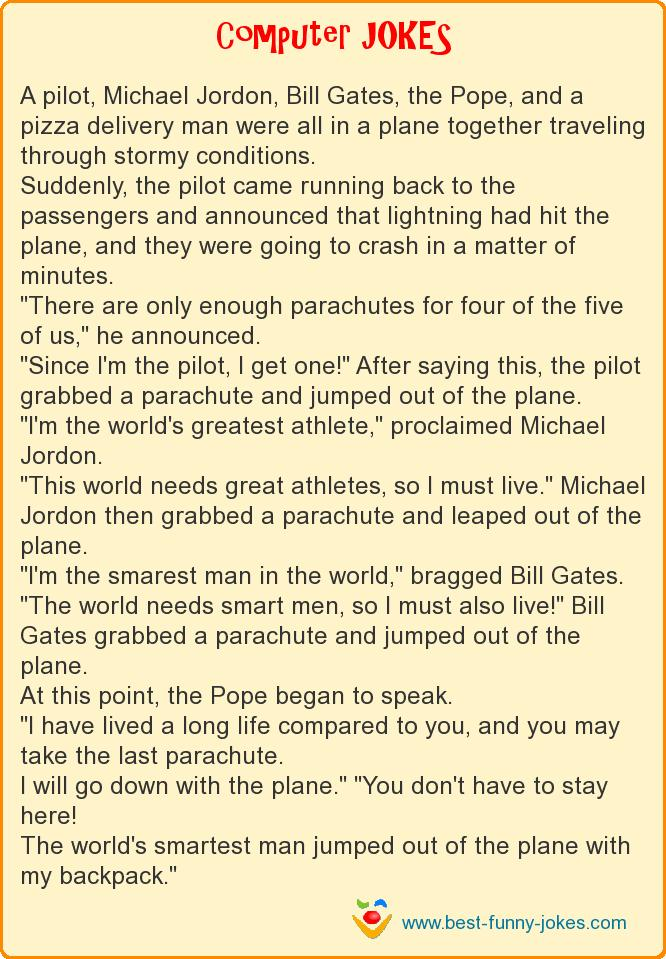 A pilot, Michael Jordon, Bill