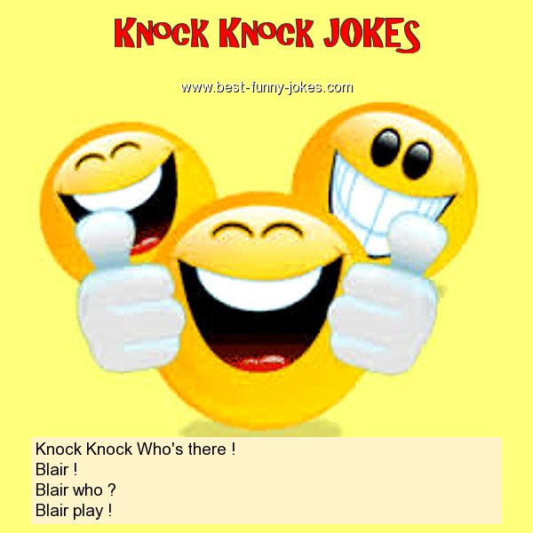 Knock Knock Who's there ! Bl