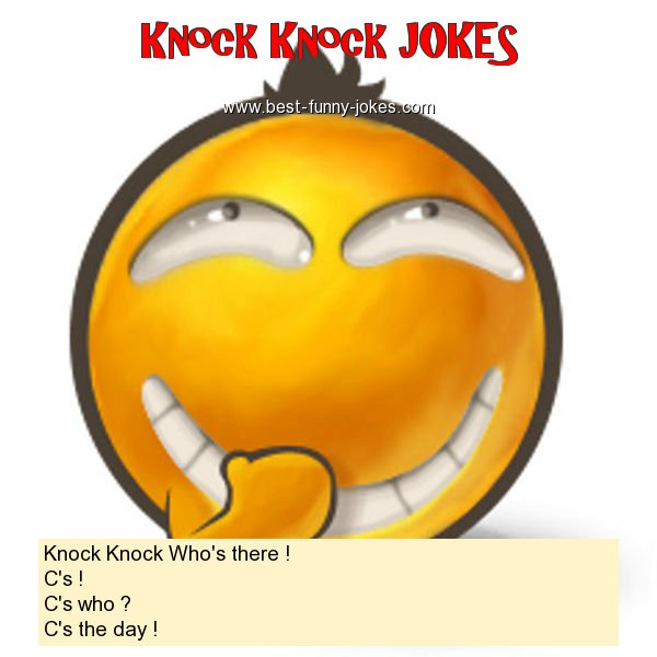 Knock Knock Who's there ! C'