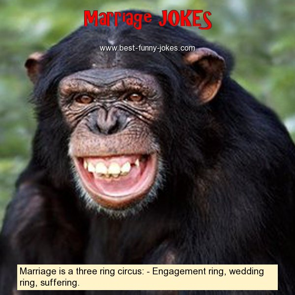 Marriage is a three ring cir