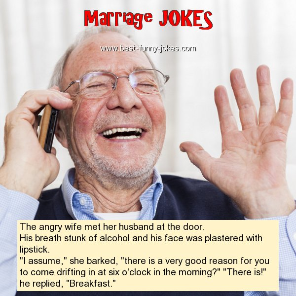 The angry wife met her husband