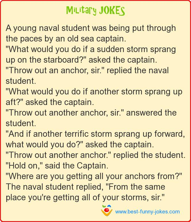 A young naval student was be