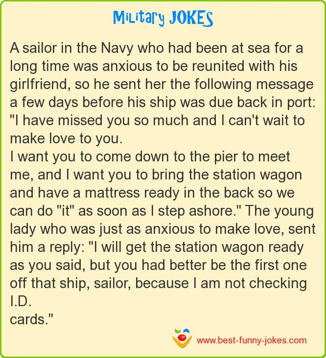 A sailor in the Navy who had b