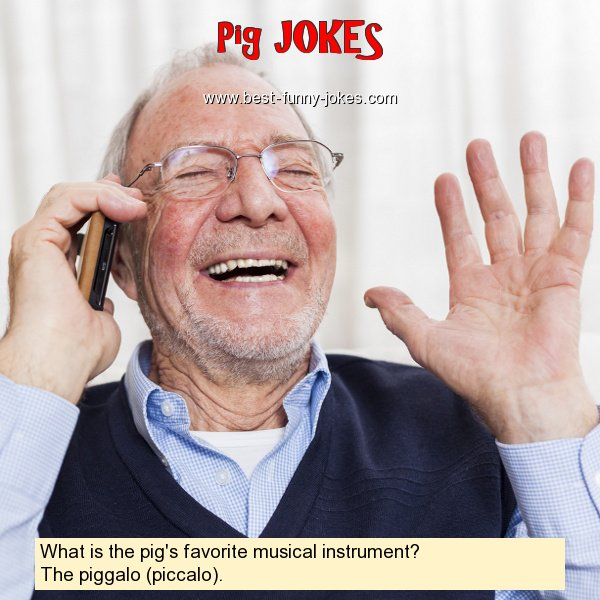 What is the pig's favorite mus