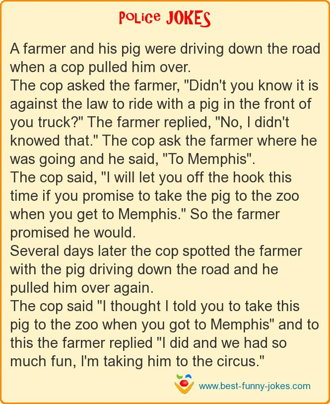 A farmer and his pig were dr