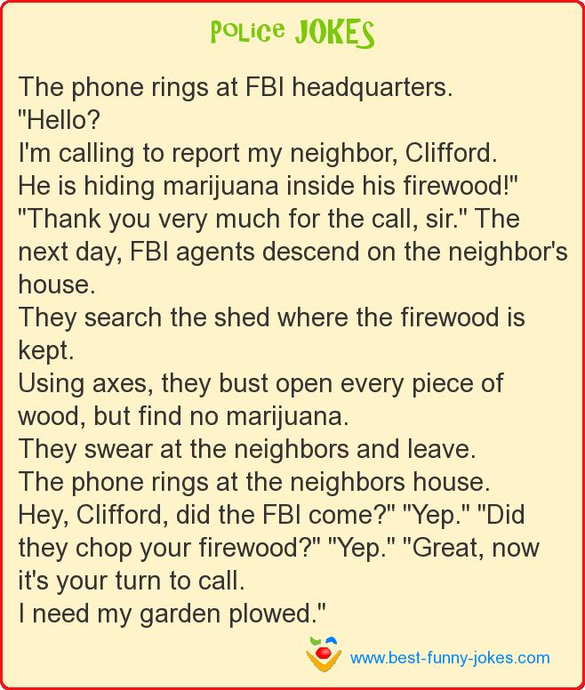 The phone rings at FBI hea