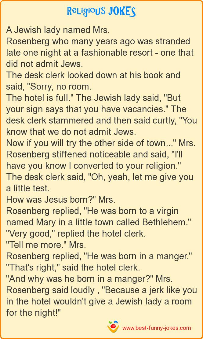 A Jewish lady named Mrs. Rosen