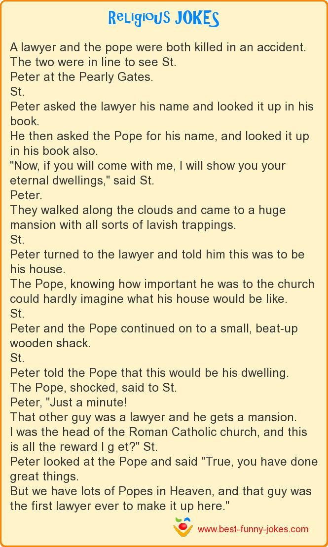 A lawyer and the pope were bot