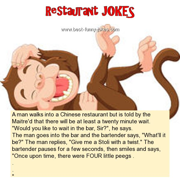 A man walks into a Chinese r
