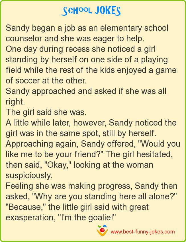 Sandy began a job as an elem