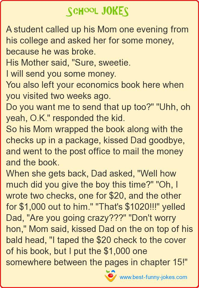 A student called up his Mom on