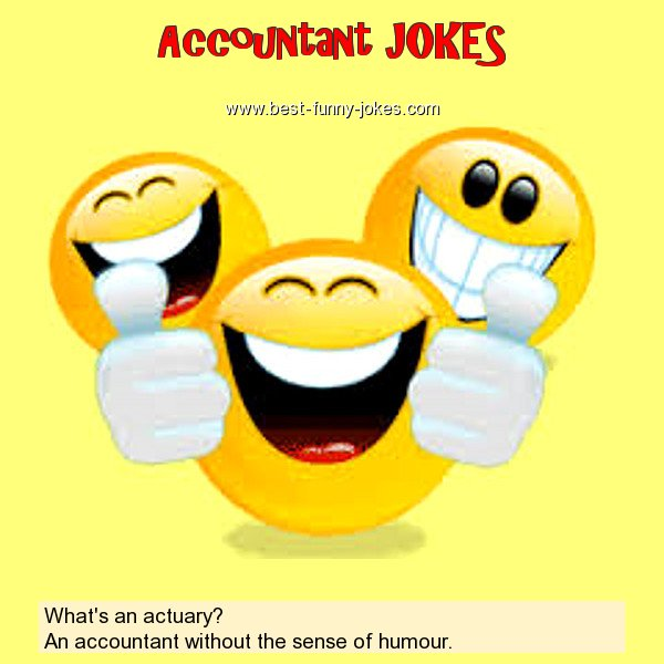 Accountant Jokes What S An Actuary