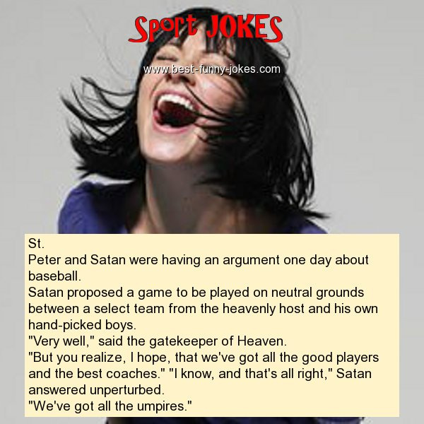 St. Peter and Satan were hav