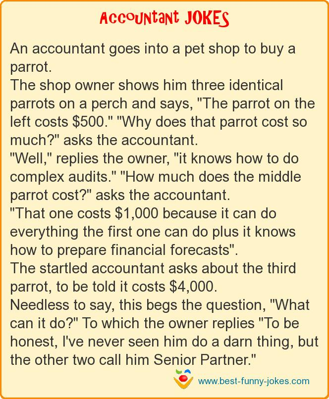 An accountant goes into a pe
