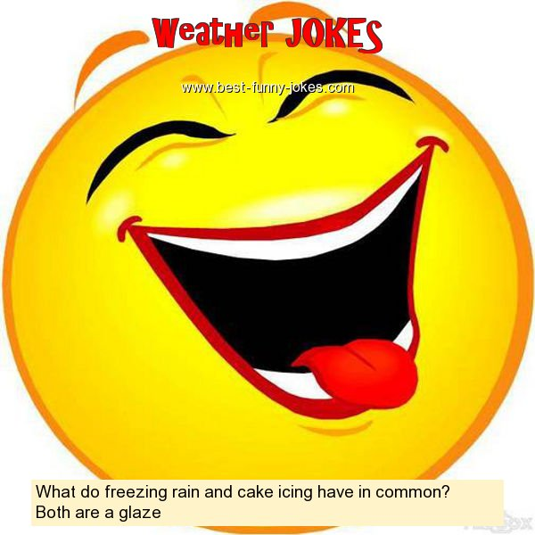 What do freezing rain and cake