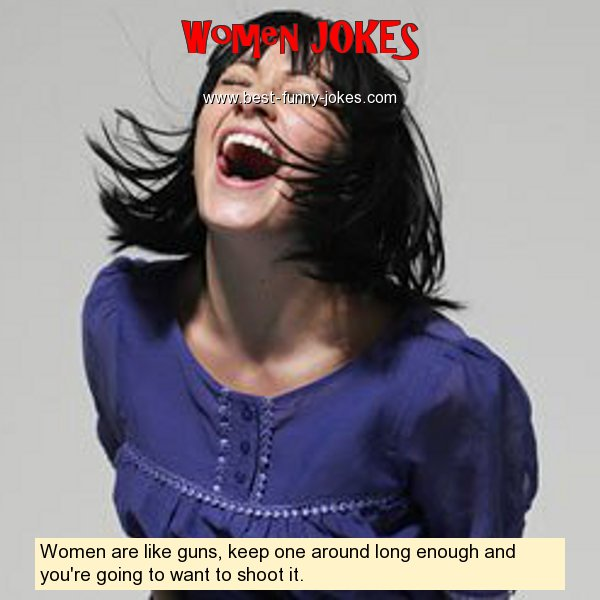 Women are like guns, keep on